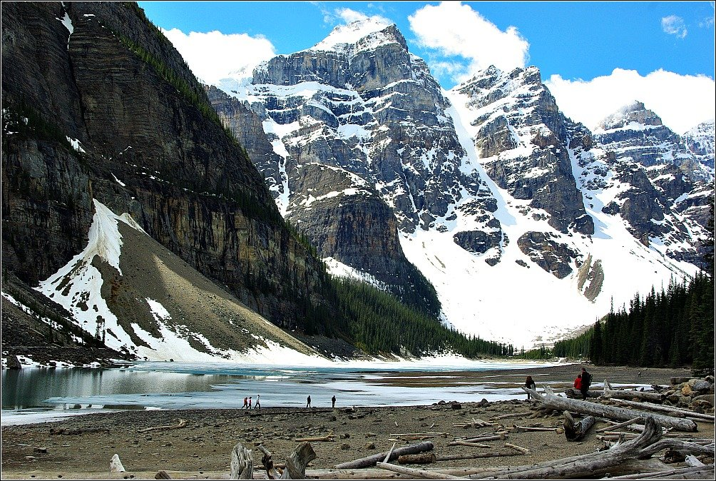 Moraine Lake Canadian Rockies early June
