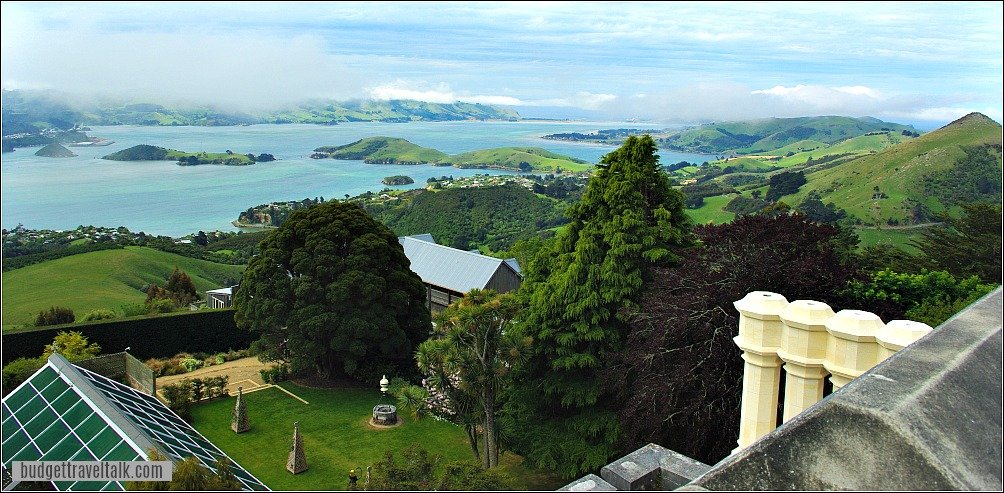 View from Larnach Castle Otago Peninsula