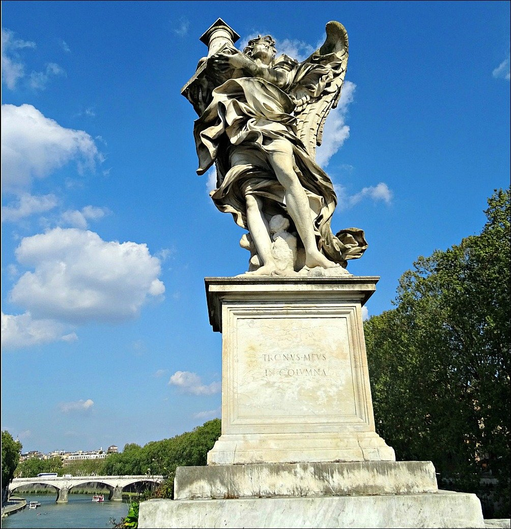 Angel with the Column on Ponte Sant'Angelo Rome
