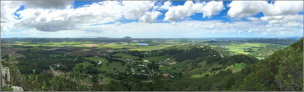 Mount Ninderry panoramic View