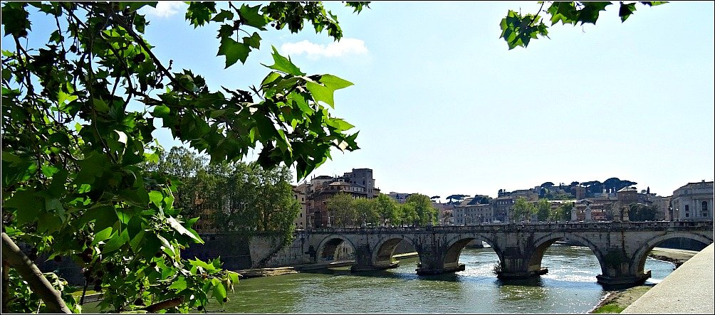 Ponte Sant' Angelo with it's five arches Rome