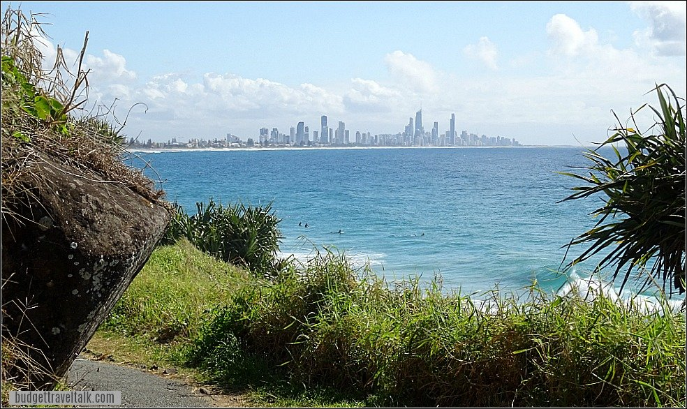 Surfers Paradise from Burleigh Heads National Park Walk