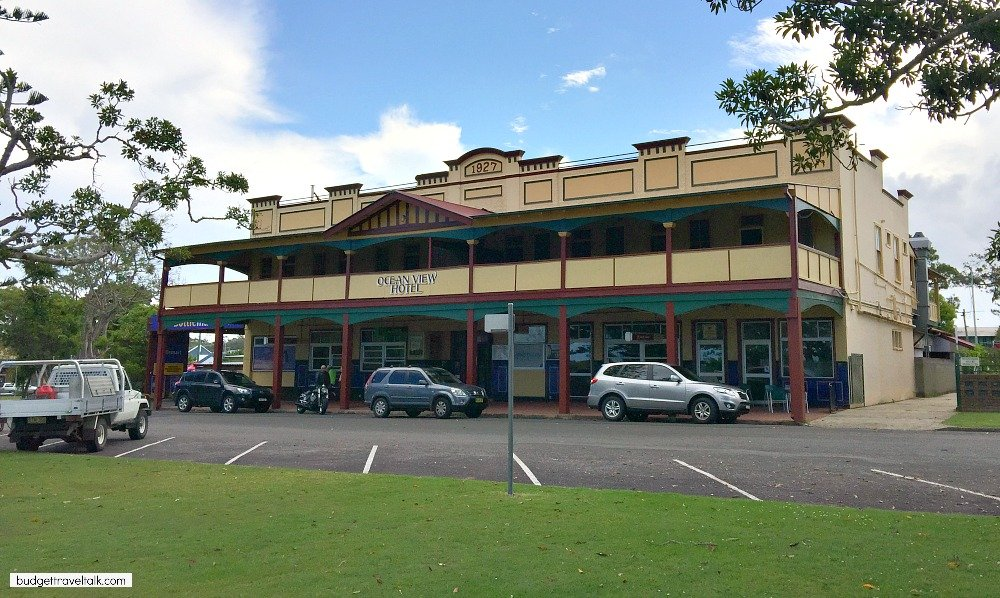 Ocean View Hotel Urunga on the Coffs Coast of New South Wales built in 1927