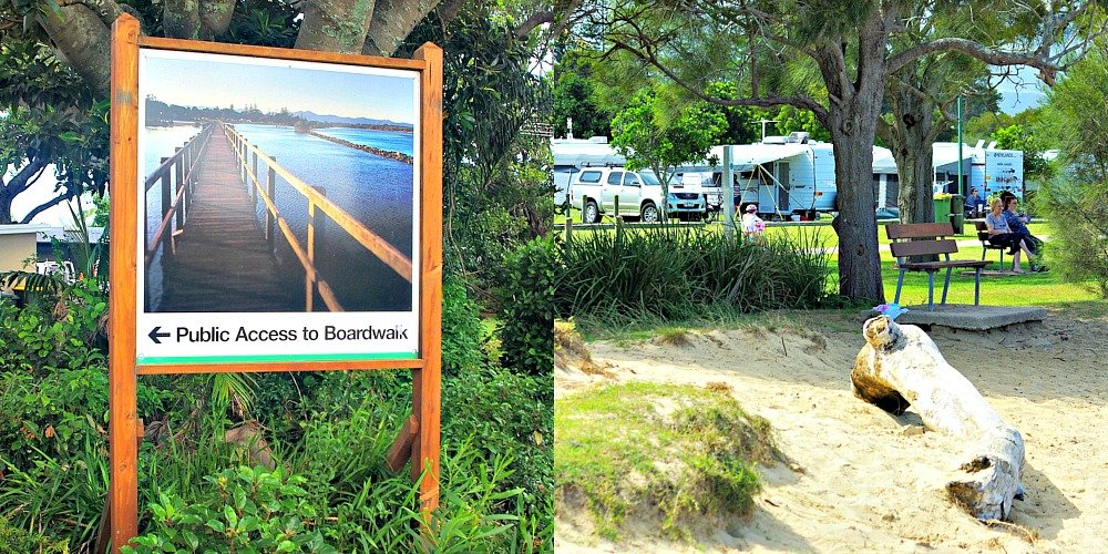 Public Access past the Reflections Urunga Caravan Park