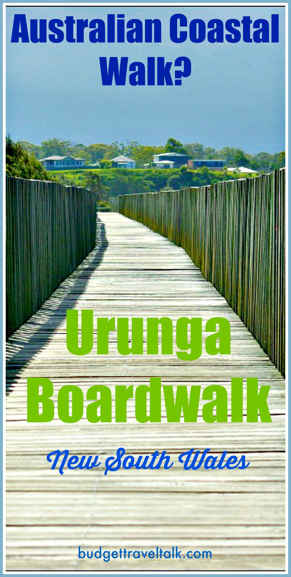 Urunga Boardwalk on the Coffs Coast of New South Wales is an old timber boardwalk that stretches 1 km from Urunga Lagoon to the Ocean