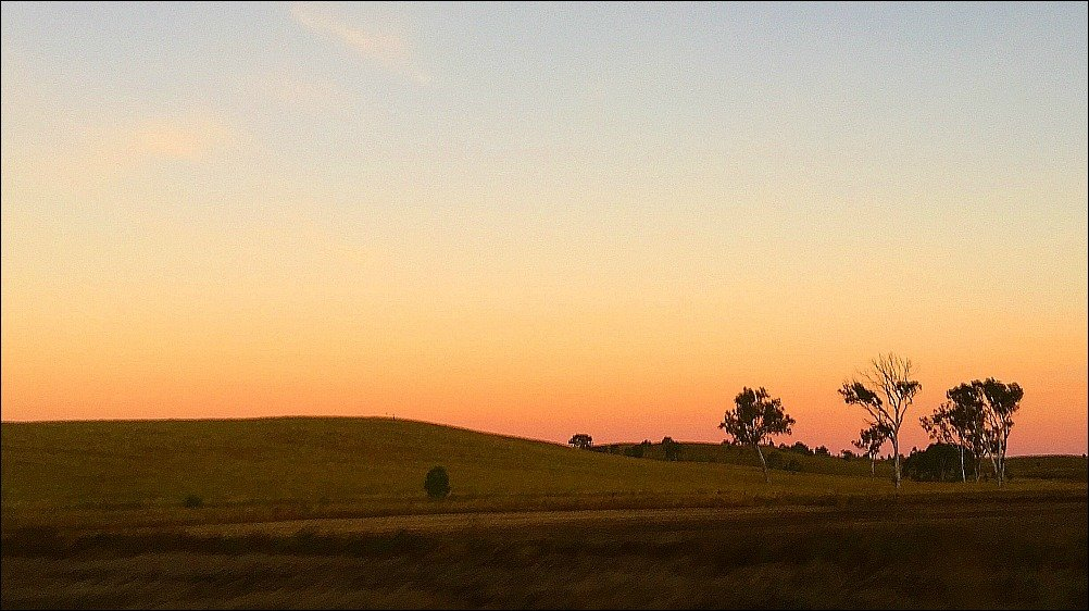 Burnett Highway Outback Queensland Sunset