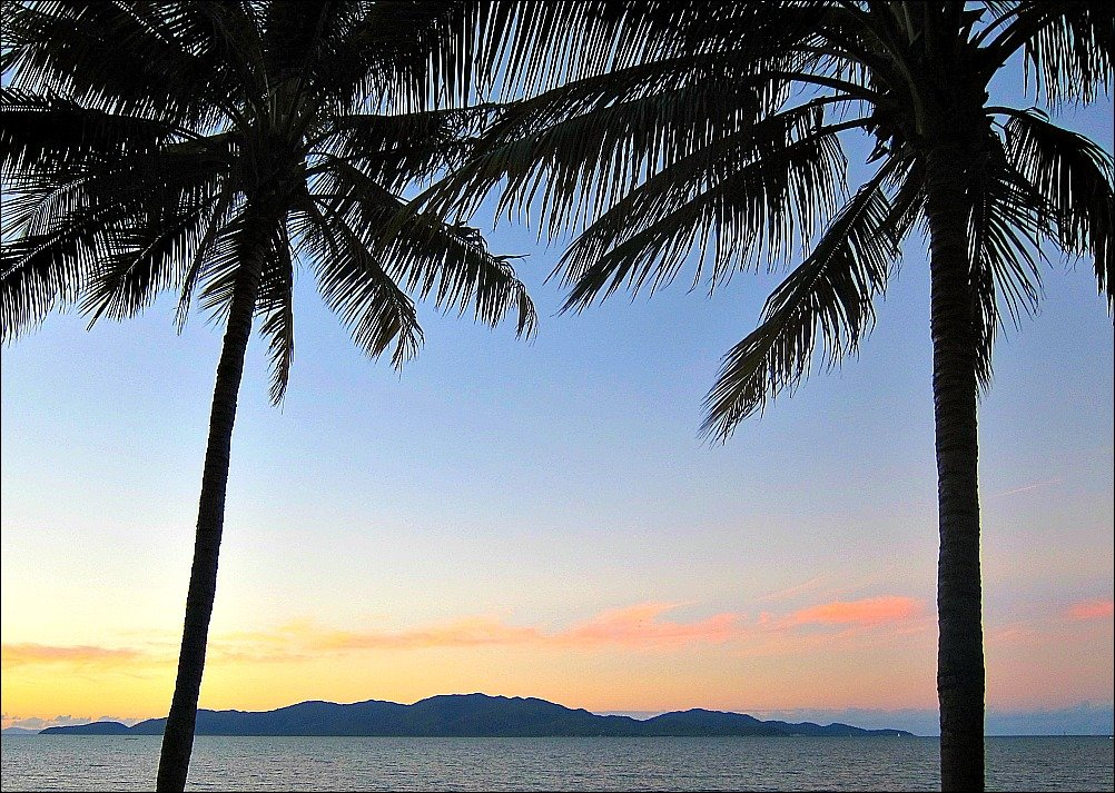 Magnetic Island as seen from Townsville's Strand at Sunset