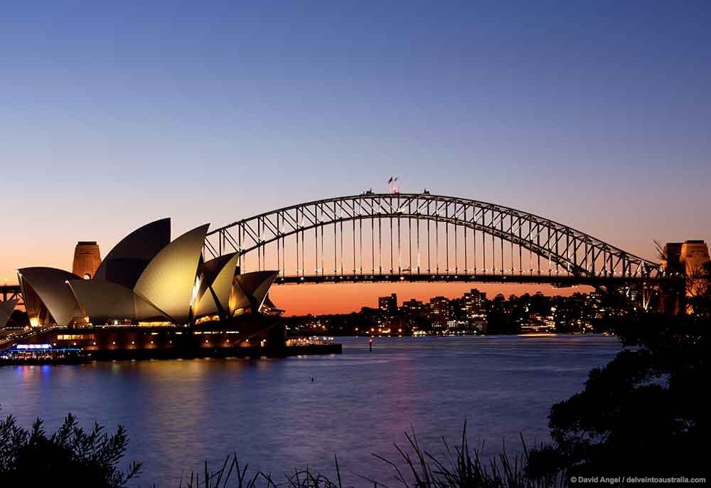 Sydney Harbour Bridge Australia Sunset
