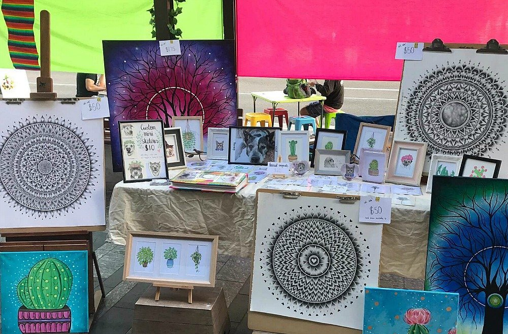 Cotters Market Townsville is the original Sunday art market in Townsville's CBD