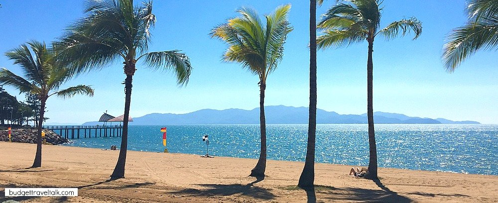 Magnetic Island as seen from the Strand Townsville