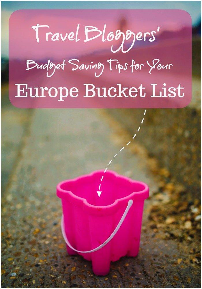 Europe Bucket List for Pinterest