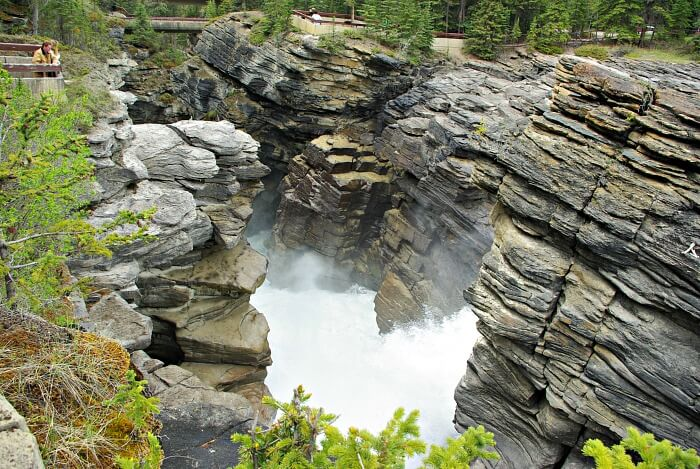 Athabasca Falls near Jasper in the Canadian Rockies