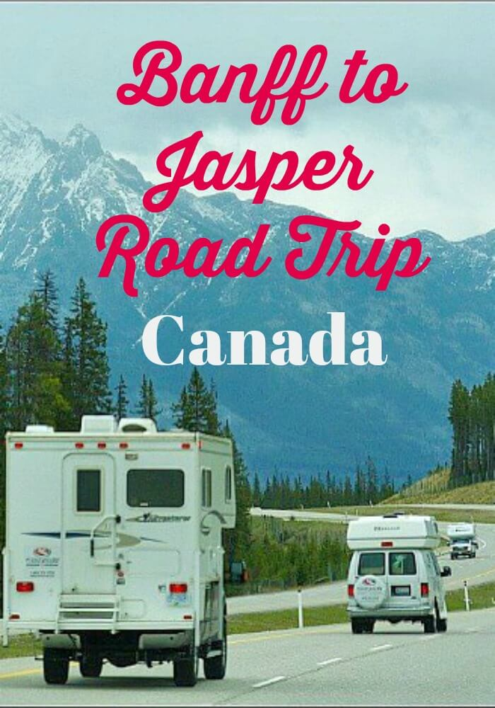 RV on a Banff to Jasper Road Trip on the Trans-Canada Highway