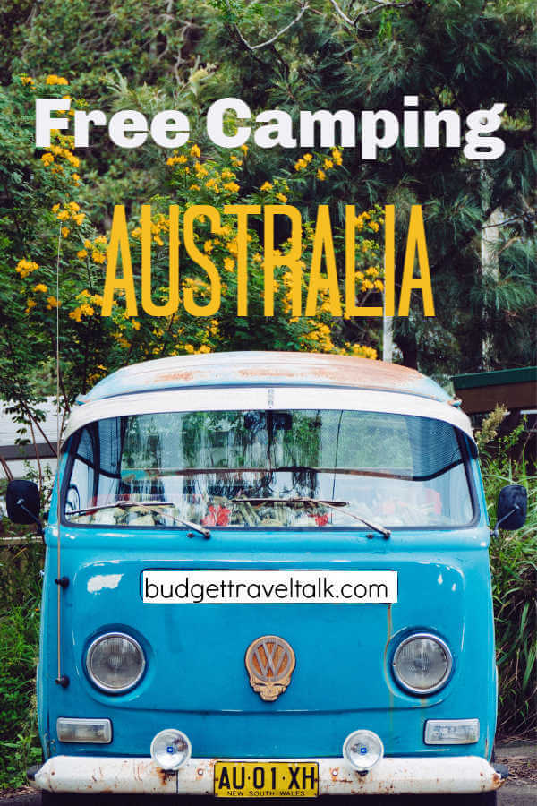 Blue Kombi Van for Free Camping in Australia