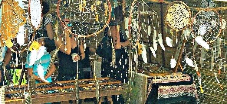 Dreamcatchers at a Eumundi Markets Stall