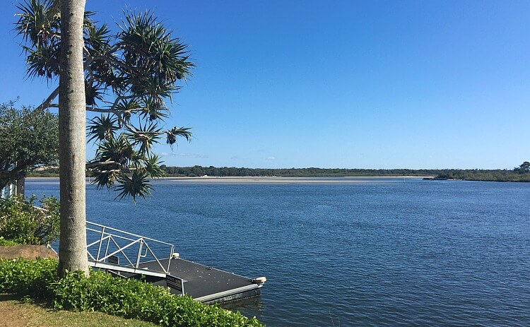 The Jetty on the Noosa River at Rickys Bar shown with the river in the background