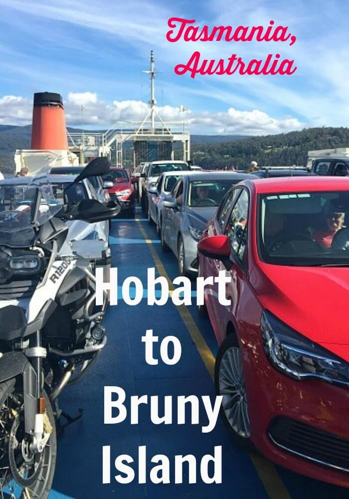 Cars on the Bruny Island Ferry Tasmania