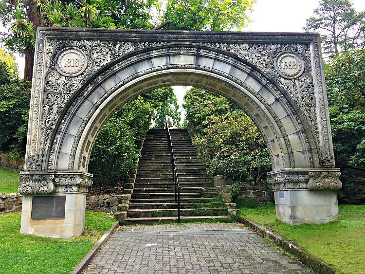 Repurposed Anniversary Arch at Hobart Garden
