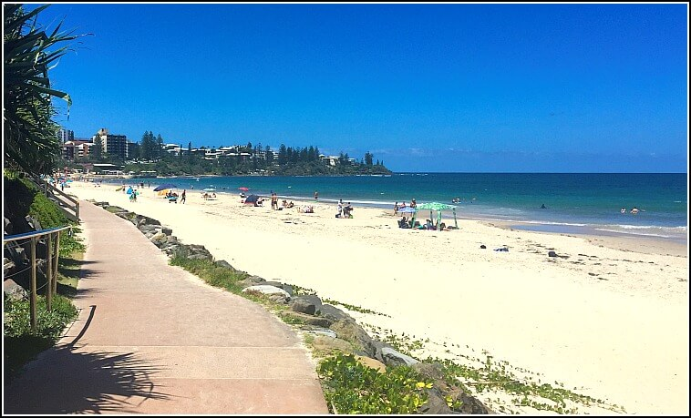 Kings Beach Caloundra with walkway and ocean views