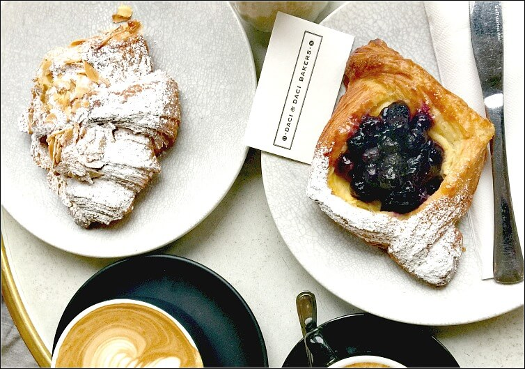 Coffee and Pastries at Daci & Daci Hobart