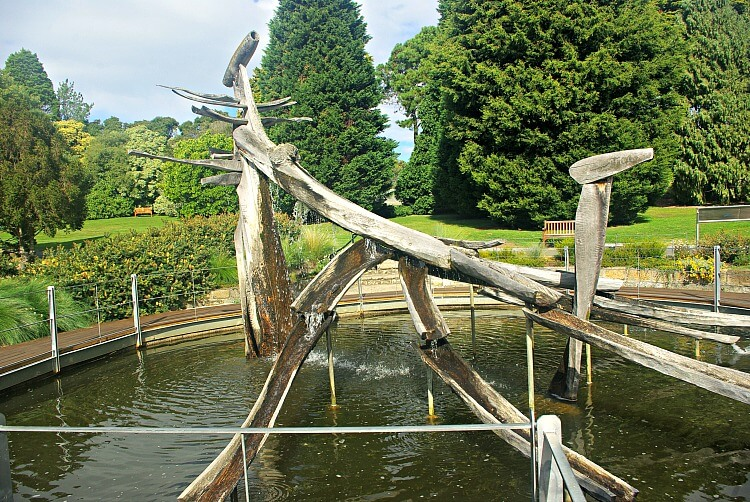 Hobart Botanic Garden Sculpture in Huon Pine of a French Explorers Boat