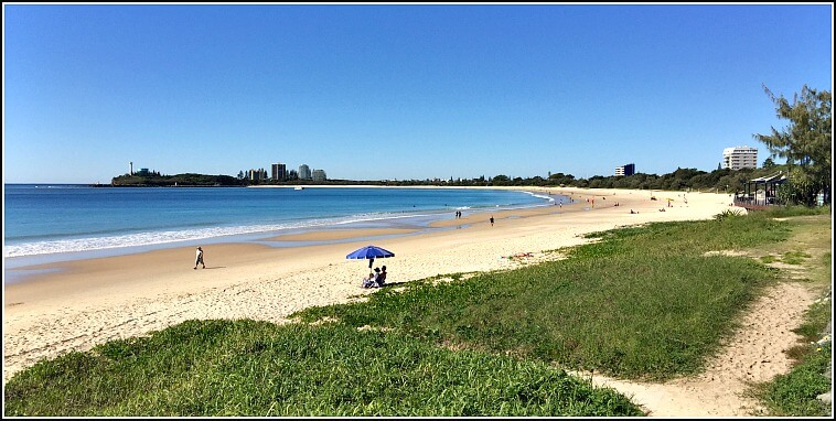Looking South on Mooloolaba Beach