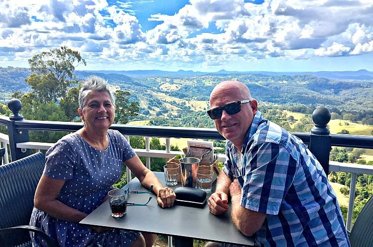 Table with a view at Mayfield Patisserie Montville