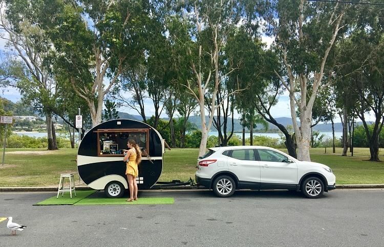 Cute black caravan Piccolo Espresso Cannonvale Airlie Beach