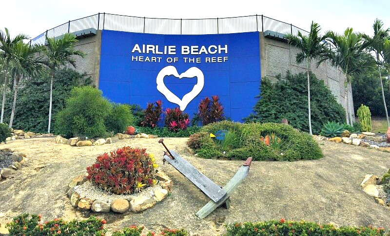 Airlie Beach Heart of the Reef Sign