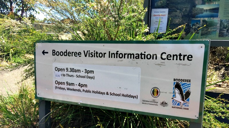 Jervis Bay Booderee Visitor Information Sign