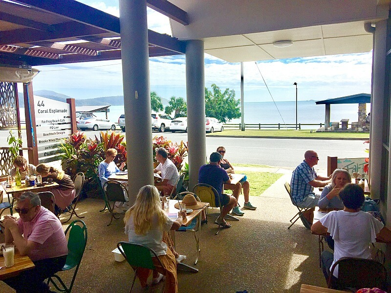 Fat Frog Cafe in Cannonvale Airlie Beach with it's dog friendly outdoor area