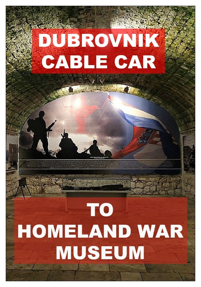 Dubrovnik Cable Car to Homeland War Museum Croatia