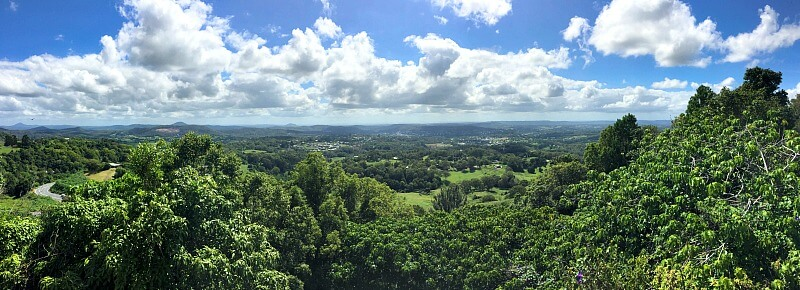 View from Dulong Lookout on the Nambour/Mapleton Road Sunshine Coast Hinterland