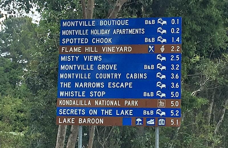 Lake Baroon Signpost