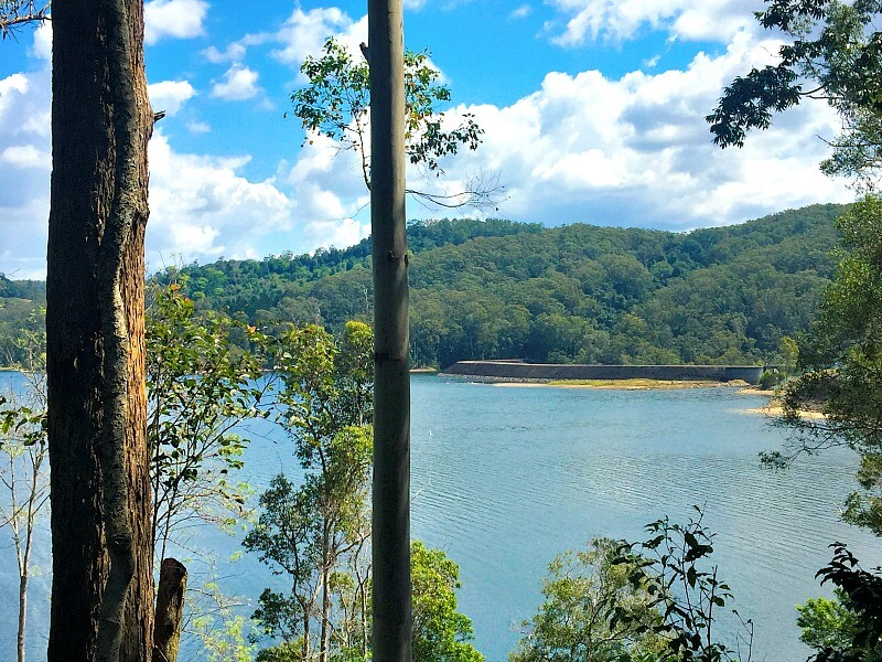 Road Trip from Brisbane to Romantic Secrets on the Lake overlooking Lake Baroon