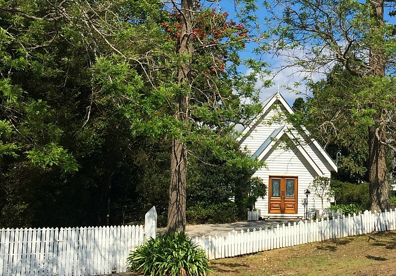 Little White Wedding Church Sunshine Coast Hinterland