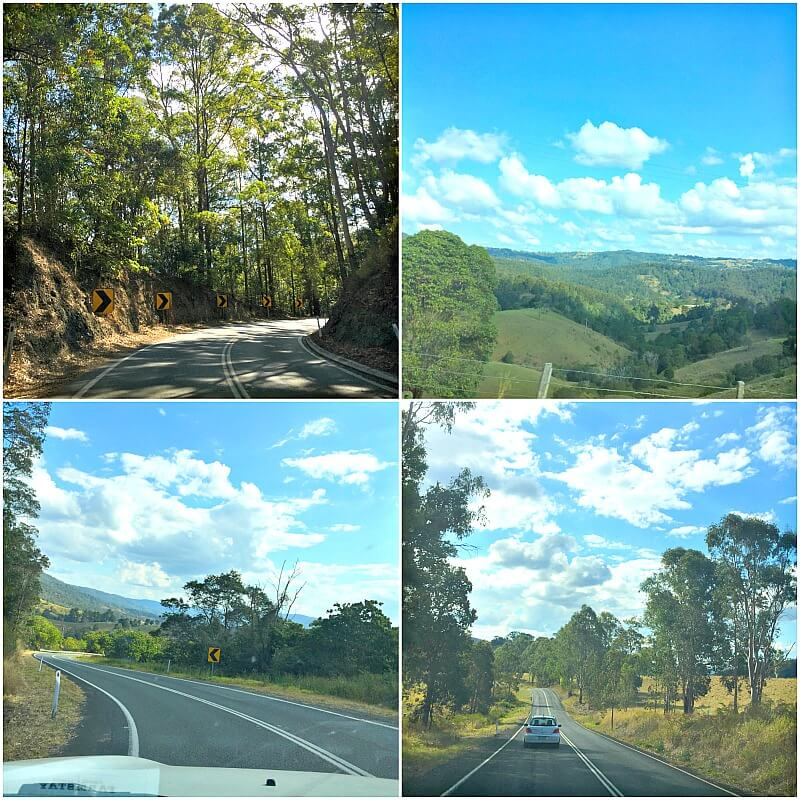 Descending the Blackall Ranges Maleny to Kenilworth