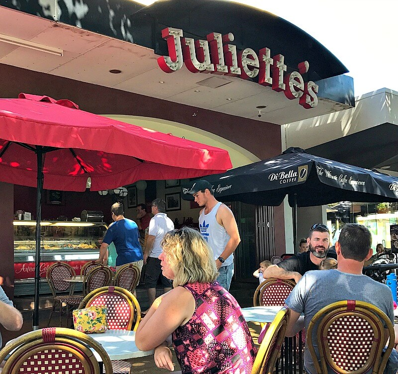 Juliette's on the Strand Townsville under the rain trees