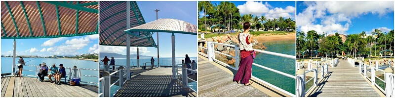 Collage of Strand Jetty photos Townsville
