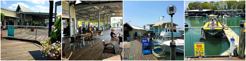 A collage of photos from Noosa Marina