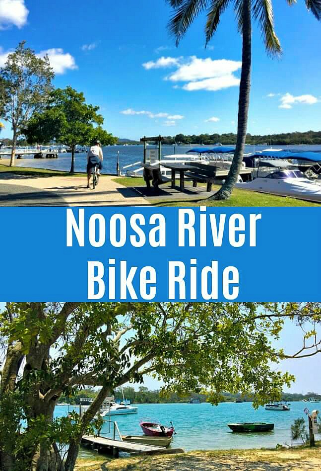River and cycling scenes from a Noosa River Bike Ride