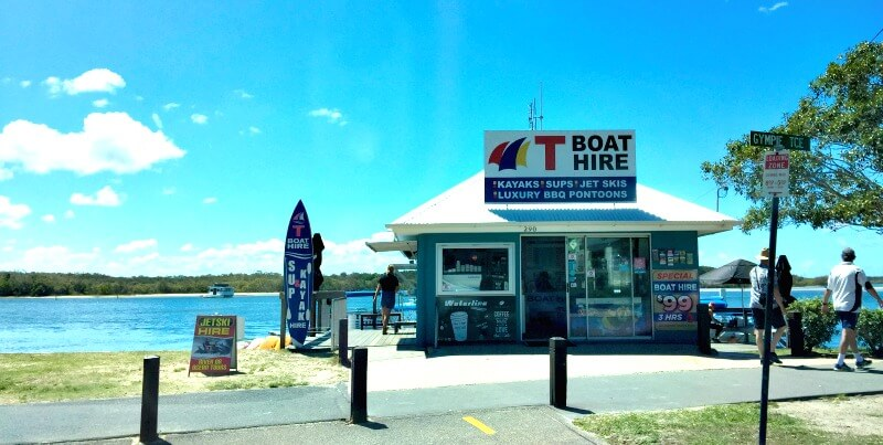 T-Boat Hire building on the Noosa River Noosaville