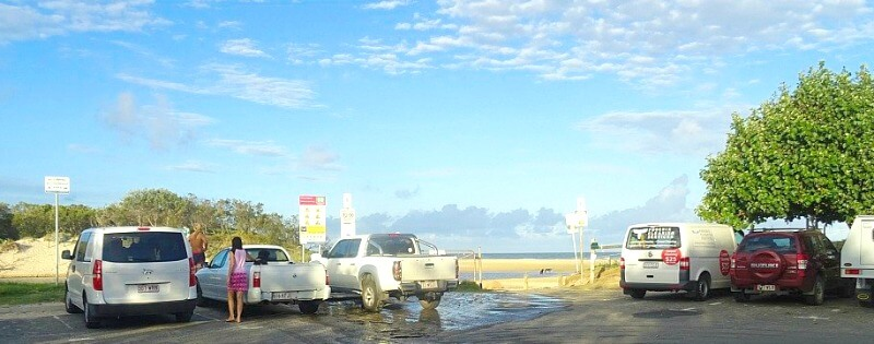 The Car Park at Stumers Off Lease Dog Beach north of Coolum on the Sunshine Coast of Queensland