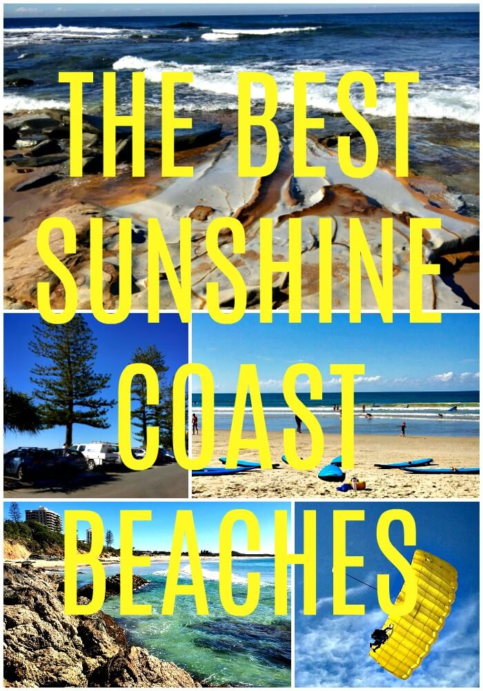 A collage of the best Sunshine Coast Beaches