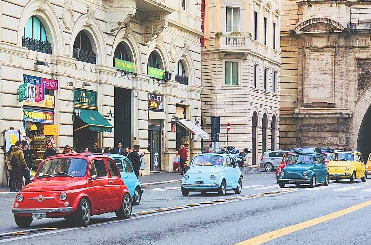 There is nothing more romantic than driving a Classic Fiat around the sights of Rome