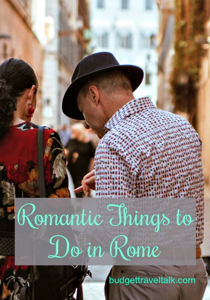 Streetscape of Rome showing romantic things for couples to do in Rome