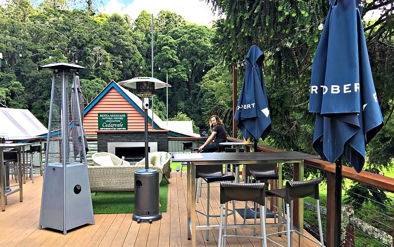 Bunya Mountains Cafe Outdoor Area and Fireplace