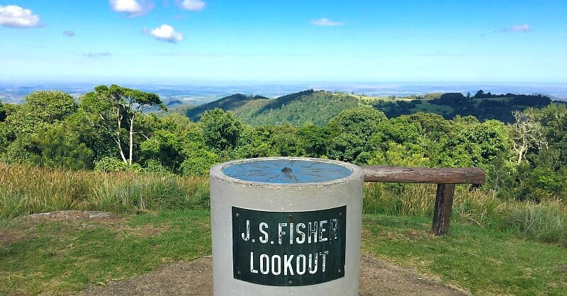 Fishers Lookout plinth and view