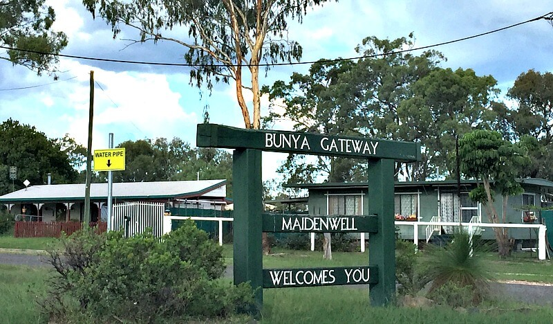 Maidenwell Bunya Gateway Welcome Sign