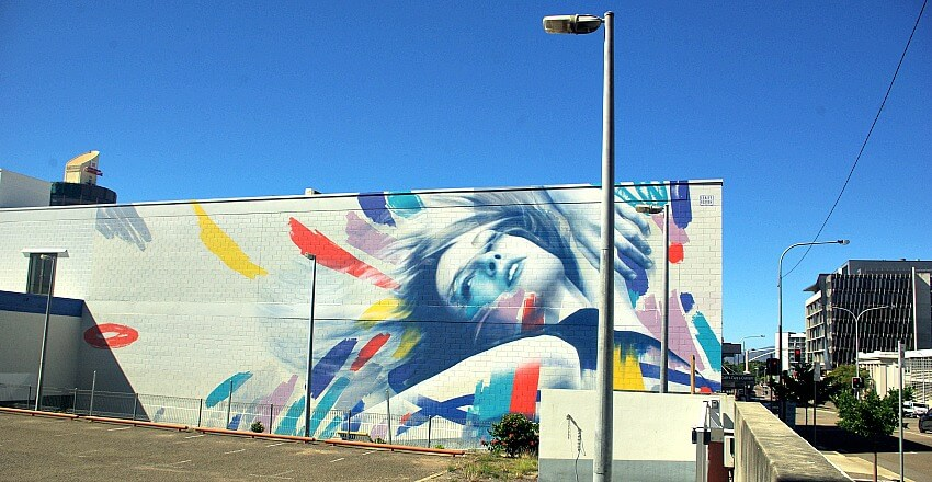 Claire Foxton Street Artist Townsville Mural